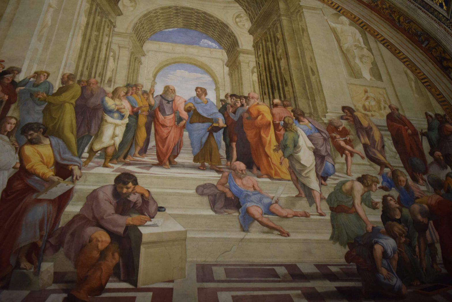 Escuela de Atenas Vaticano - (c) Juana Vélez A