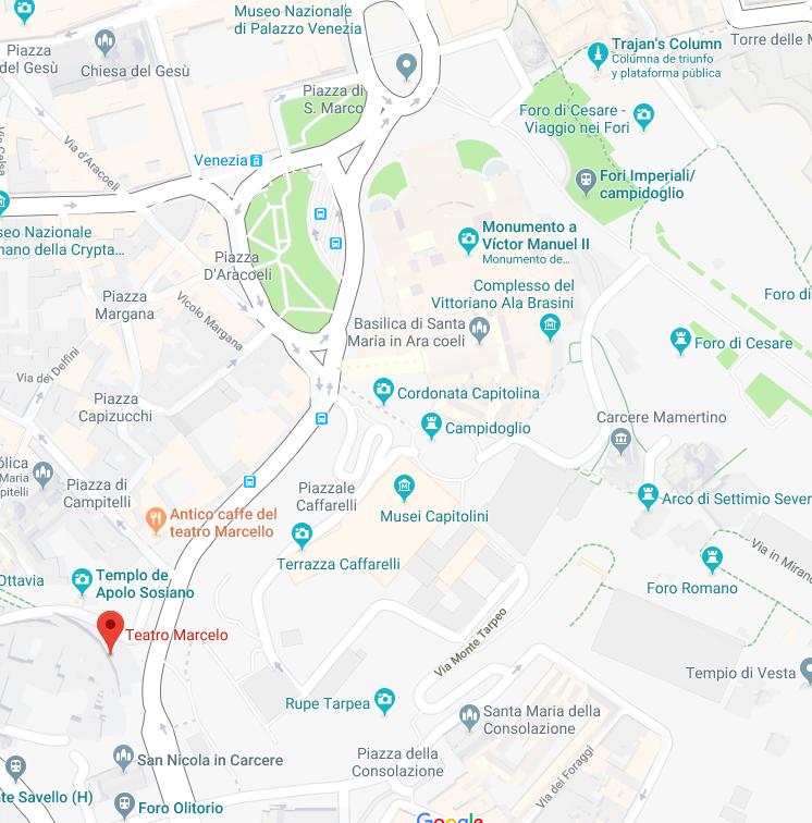 Mapa de Roma - Teatro Marcello