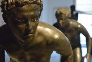 Estatuas de bronce encontradas en la Villa dei Papiri - Museo archeologico di Napoli - (c) Juana Vélez A
