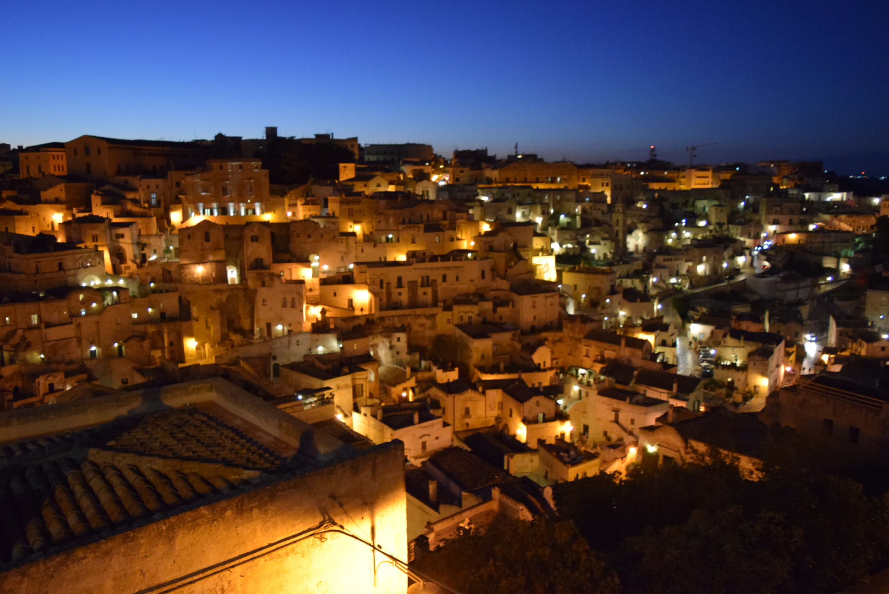 Vista Nocturna de Matera, Basilicata