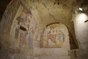 Interno de una iglesia de Matera, Basilicata