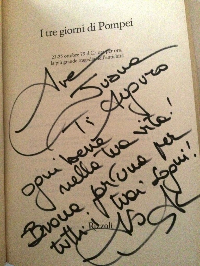 Autografo Alberto Angela