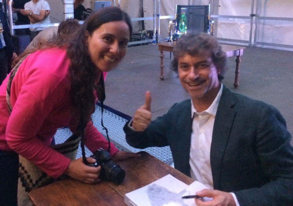 Firma de libros Alberto Angela