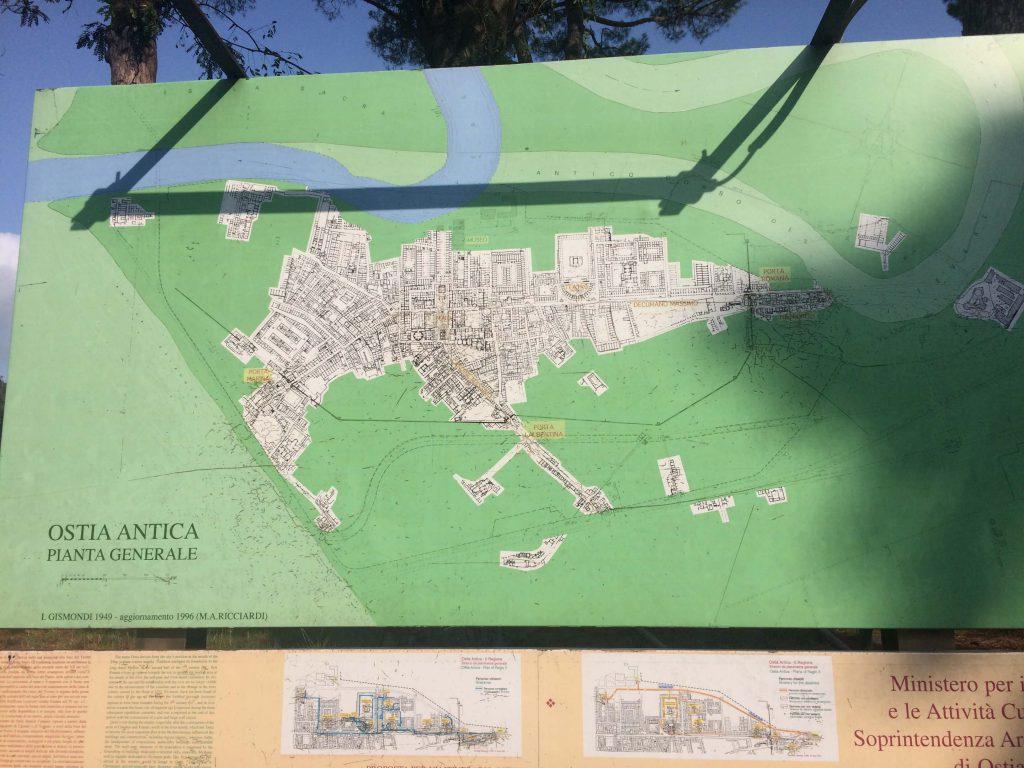 Mapa del Parque Arqueologico - Ostia Antica